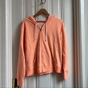 Xhilaration Pastel Orange Full Zip Hoodie
